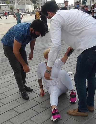 Son Dakika... Kadına sokak ortasında şiddet! | Video