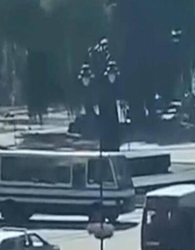 Ukrayna'da rehine krizi! Polis dronuna ateş açtı
