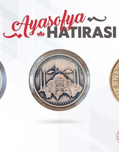 Son dakika haberi... Bakan Albayrak paylaştı! Ayasofya Camii için basılan özel para | Video