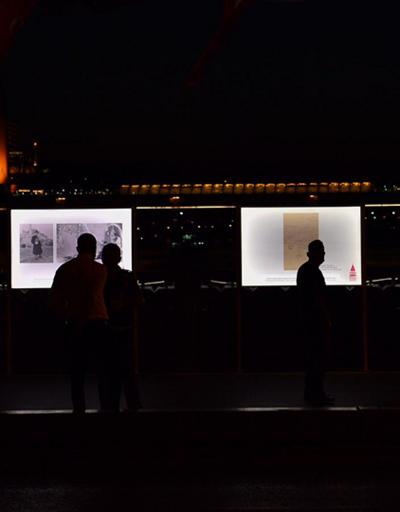 Son dakika... Tarihi Galata köprüsü üzerinde Ayasofya sergisi | Video