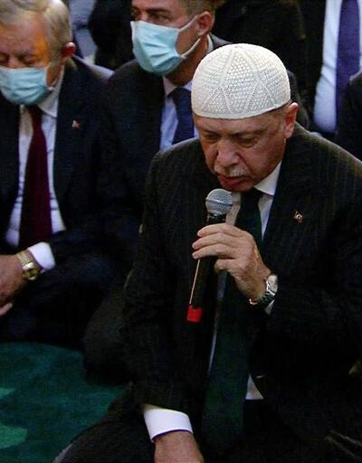 Son Dakika: Cumhurbaşkanı Erdoğan Ayasofya'da Kur'an-ı Kerim okudu | Video
