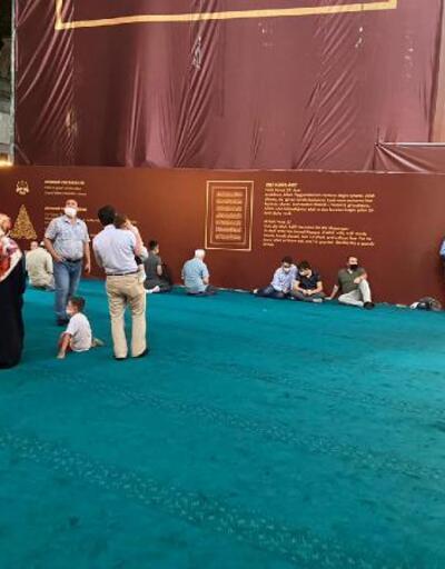 Son dakika... Ayasofya Camii ikinci günde ziyaretçi akınına uğradı