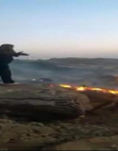 Derik'te dağlık alanda çıkan yangını çevredekiler söndürdü