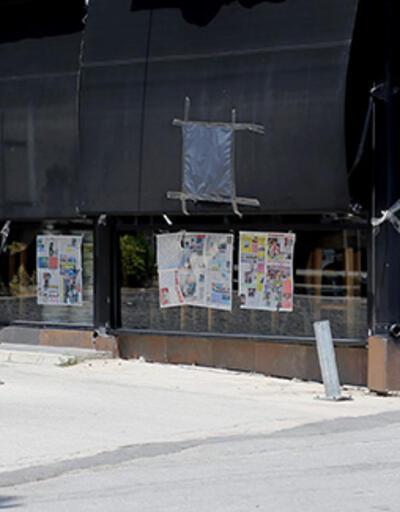 """""""Katil"""" yazısını cinayet haberinin yer aldığı gazete sayfasıyla kapatmaya çalıştılar"""