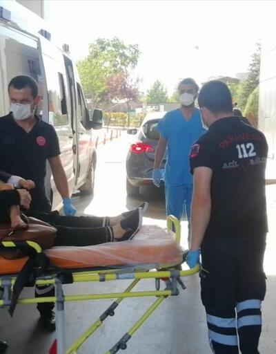 Sedyede annesinin kucağında hastaneye getirildi