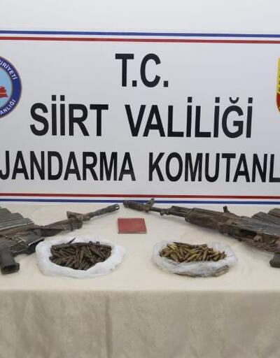 Siirt'te 2 teröristin etkisiz hale getirildiği bölgede silah ve mühimmat ele geçirildi