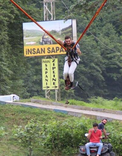 Adrenalin tutkunlarının yeni gözdesi; 'İnsan Sapanı'