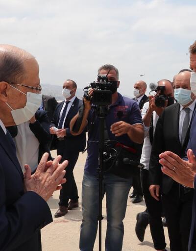 Son dakika... Fransa Cumhurbaşkanı Emmanuel Macron, Lübnan'da