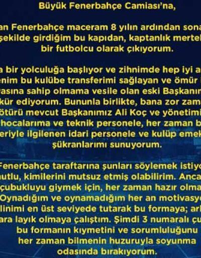 Son dakika... Hasan Ali Kaldırım Fenerbahçe'ye veda etti