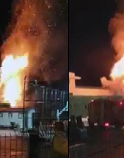 Düğün yapılan otelin bahçesinde atılan havai fişekler yangın çıkardı