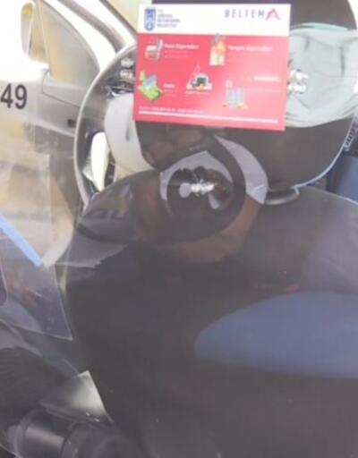 Ankara'da taksilere virüs önlemi | Video