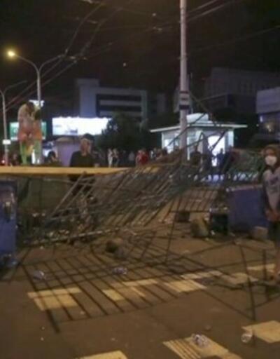 Belarus'ta eylemler sürüyor   Video