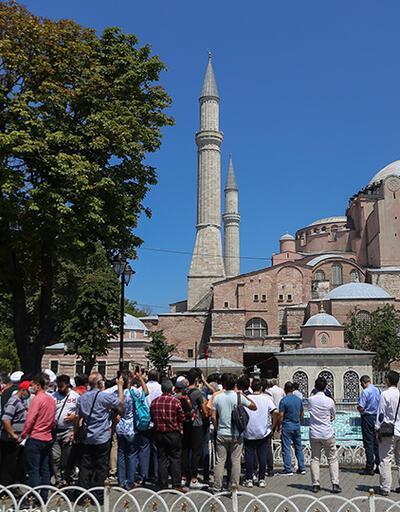 Son dakika: Ayasofya Camii'ne ziyaretçi akını | Video