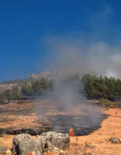Nurdağı'nda orman yangını 1 saatte söndürüldü