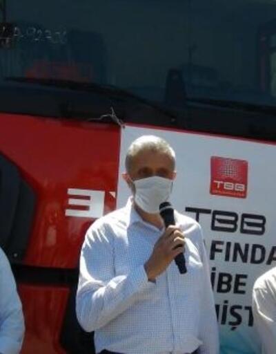 TBB'den Simav Belediyesi'ne 2 itfaiye aracı hibe edildi
