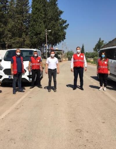 Kızılay'dan Kumlu'da karantinaya alınan mahalle sakinlerine destek