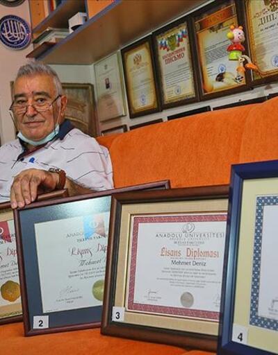 Son dakika: 80 yaşında 5. üniversite diplomasını aldı | Video