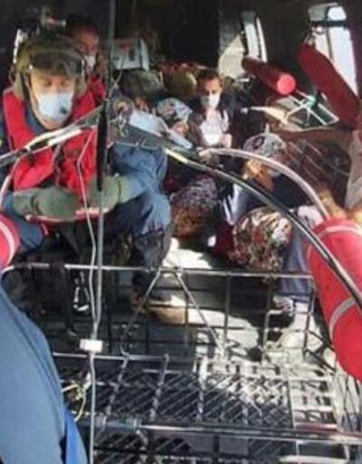 Son dakika... MSB'den Giresun'da helikopterle kurtarma   Video