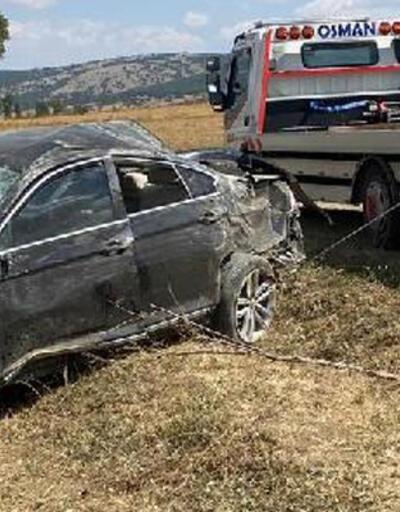 Lastiği patlatan otomobil takla attı! 4 koruma polisi yaralandı