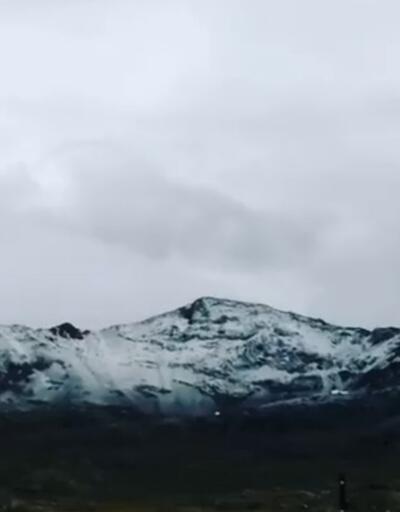 Rize'de Ağustos ayında kar sürprizi