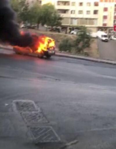 Eşine kızdı, aracını yaktı | Video