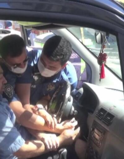 Aracını çektirmemek için direndi | Video