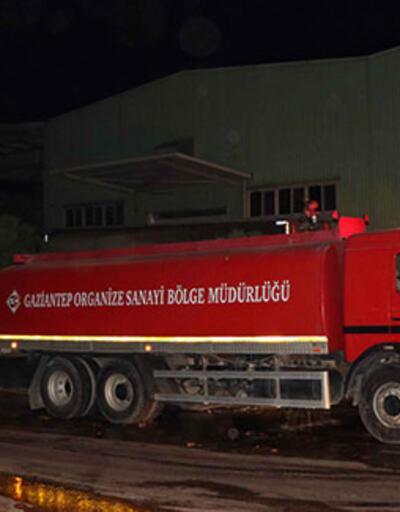 Gaziantep'te susam fabrikasında yangın