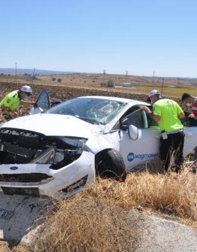 Tekirdağ'da kontrolden çıkan araç tarlaya girdi: 2 yaralı