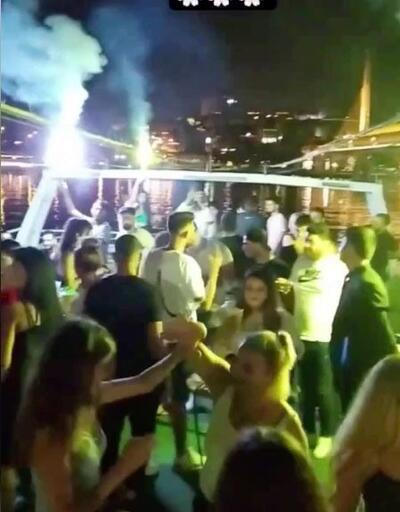 """Son dakika... İstanbul Boğazı'nda salgına rağmen """"korona virüs partileri"""" kamerada   Video"""