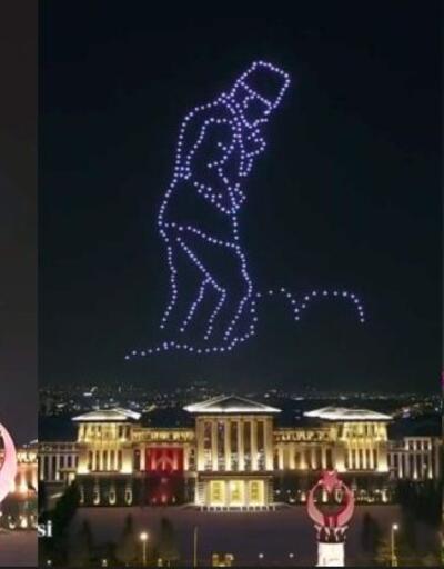 300 İHA ile 30 Ağustos'a özel ışık gösterisi yapıldı | Video