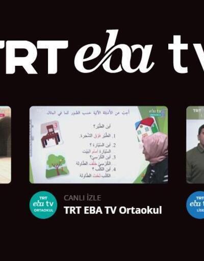 EBA TV ders programı 1 Eylül CANLI | EBA TV lise, ilkokul, ortaokul ders programı
