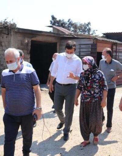Başkan Özgan, partisinden heyetle yangın bölgesinde