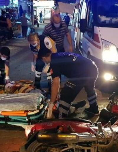 Motosiklet üzerinden savrulan sürücü ağır yaralandı