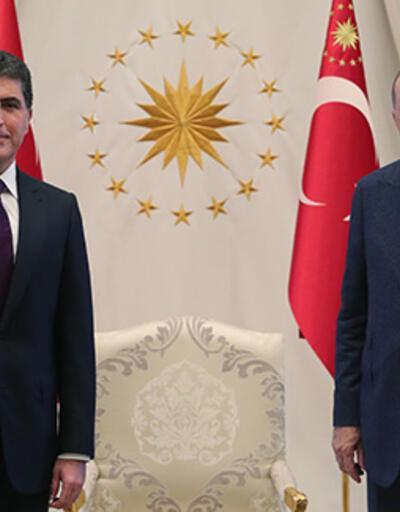 Son dakika... Cumhurbaşkanı Erdoğan, Barzani'yi kabul etti | Video