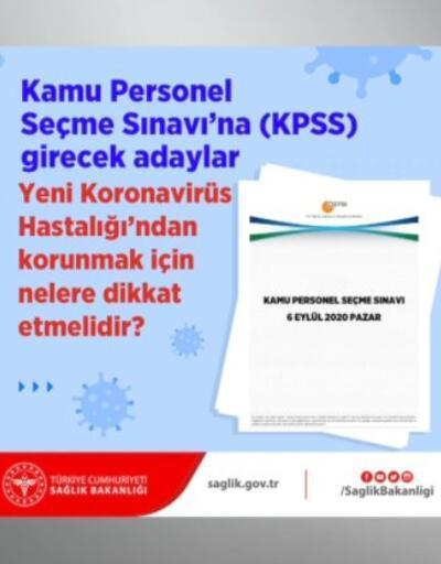 KPSS'de koronavirüs önlemleri | Video