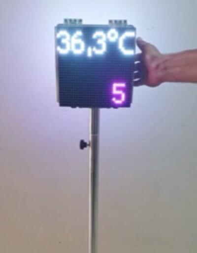 Meslek lisesi ateş ölçer üretti | Video