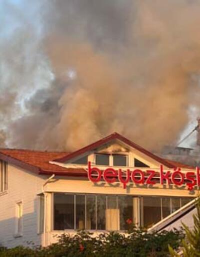 Son dakika haberi: Maltepe'de restoranın çatısı alev alev yandı