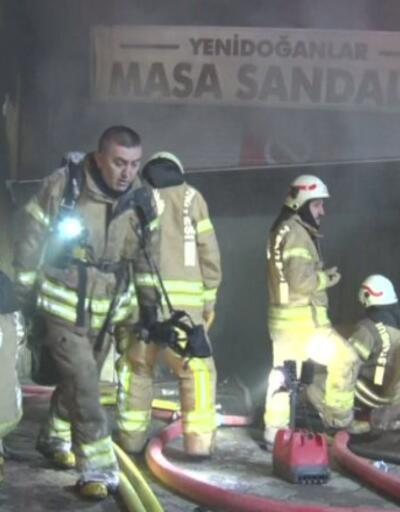 Esenler'de iş yeri yangını | Video