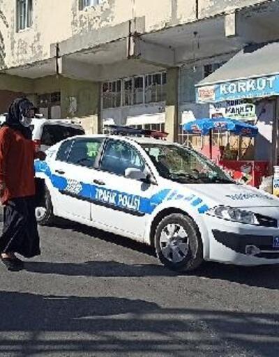 Gercüş'te, polisten maske denetimi