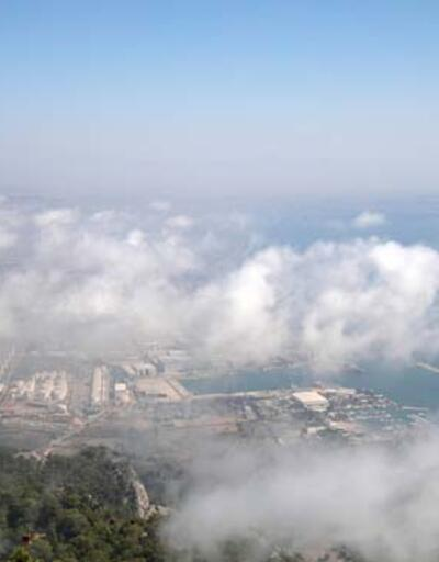 Antalya'da nem bulutları gökyüzünü kapladı!