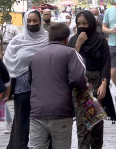 Taksim'de dilenci operasyonu | Video