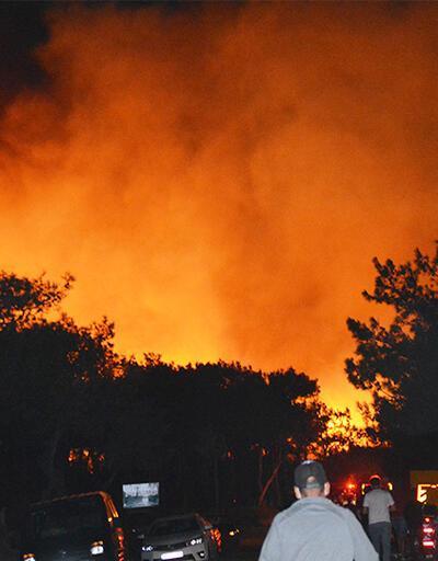 Son Dakika: Ayvalık'ta korkutan orman yangını | Video