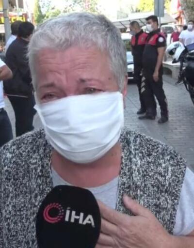 72 yaşındaki kadın maske takmayanlar yüzünden ağladı | Video