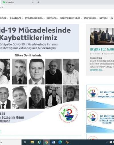 Erzurum'da eczacılar, sosyal medya profillerini kararttı