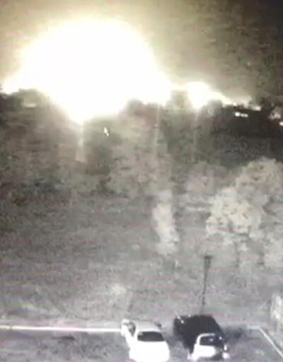 Son dakika... Ukrayna'da askeri uçağın düşme anı kamerada