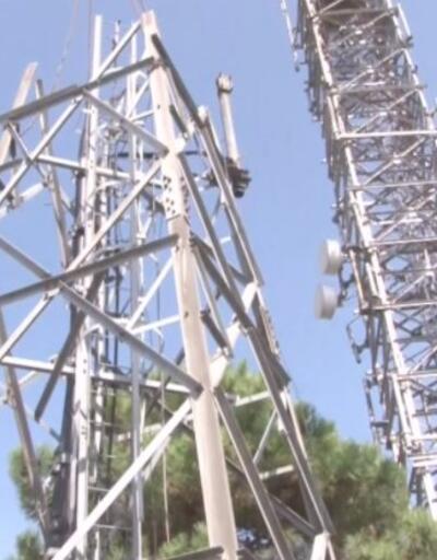 Çamlıca'daki antenlerin söküm çalışması sürüyor | Video