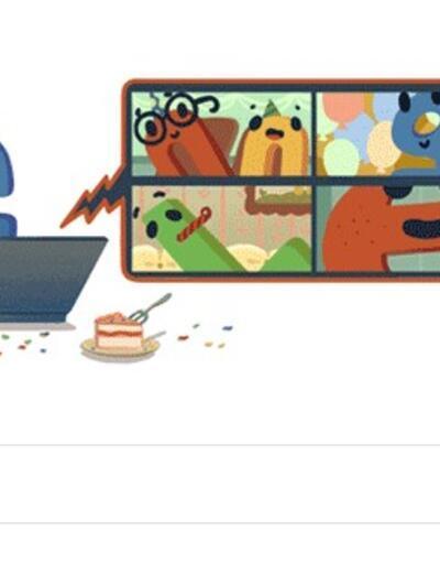 Google bu kez kendisini doodle yaptı!
