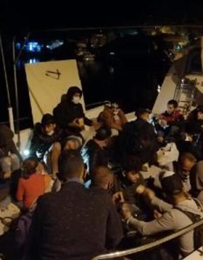 Marmaris'te 87 kaçak göçmen kurtarıldı
