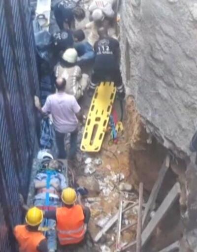 Son dakika haberi! İnşaat iskelesi çöktü, 3 işçi hastaneye kaldırıldı