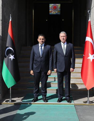 Bakan Akar, Libyalı mevkidaşıyla görüştü